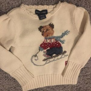 Baby girls polo sweater